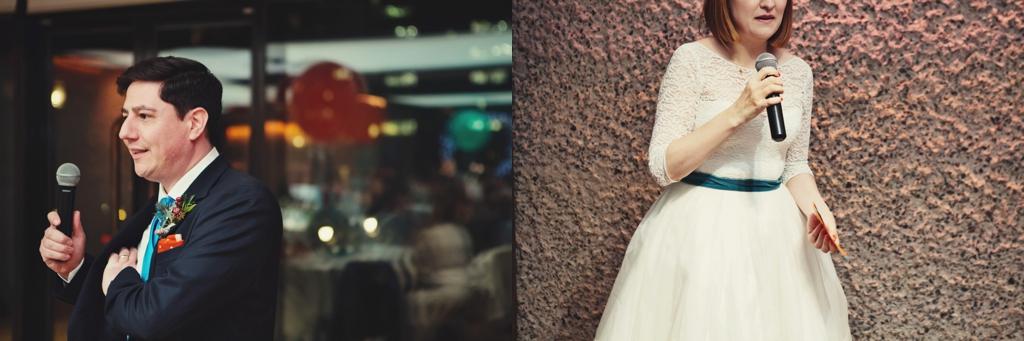 Bride and groom wedding speeches London