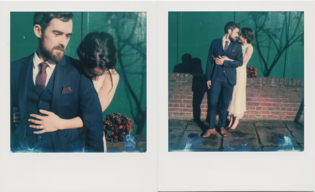 Creative polaroid London wedding photography