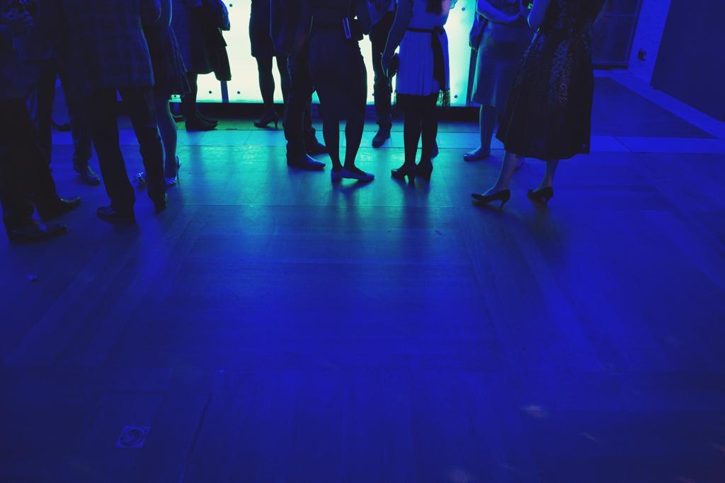 The Barbican London wedding dance floor