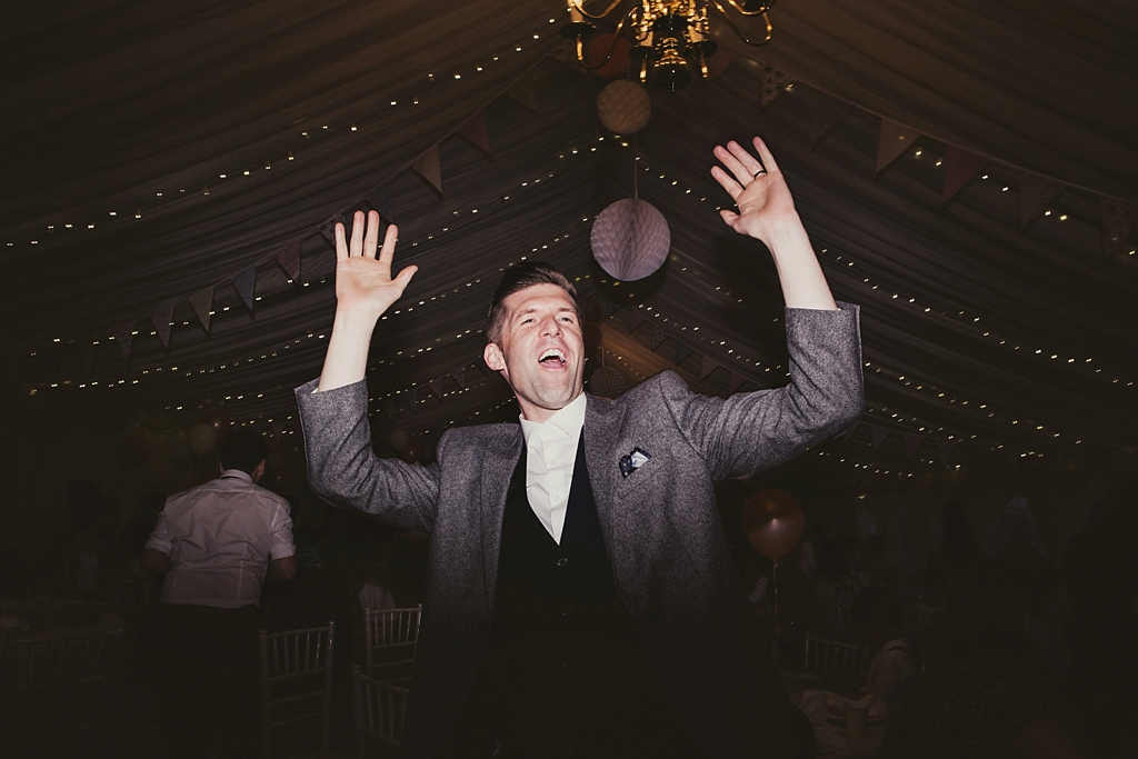 Fun dance floor Derby wedding photography by Lisa Jane Photography