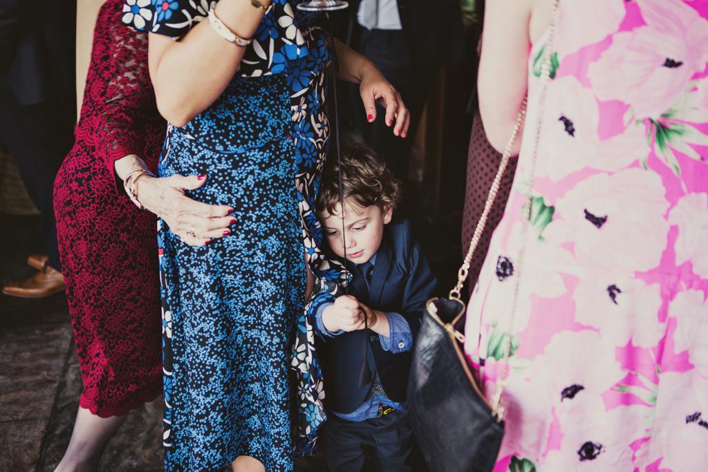 boy hugging mum at a stoke newington town hall wedding
