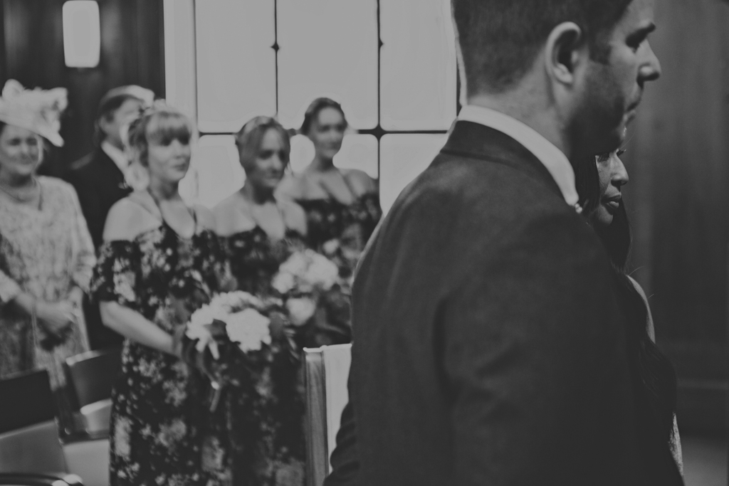 Bride and groom during a ceremony at a Stoke Newington Town Hall Wedding