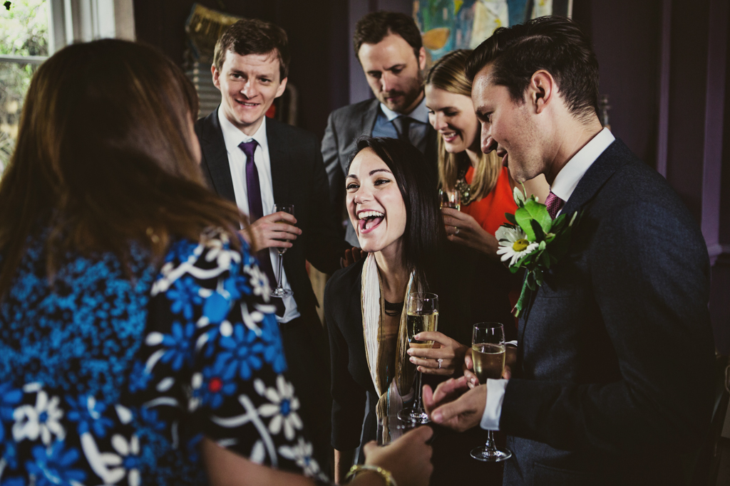 guests at a weding at The Roost in Hackney