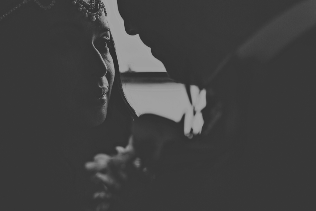 creative couples portraits at a Hackney wedding