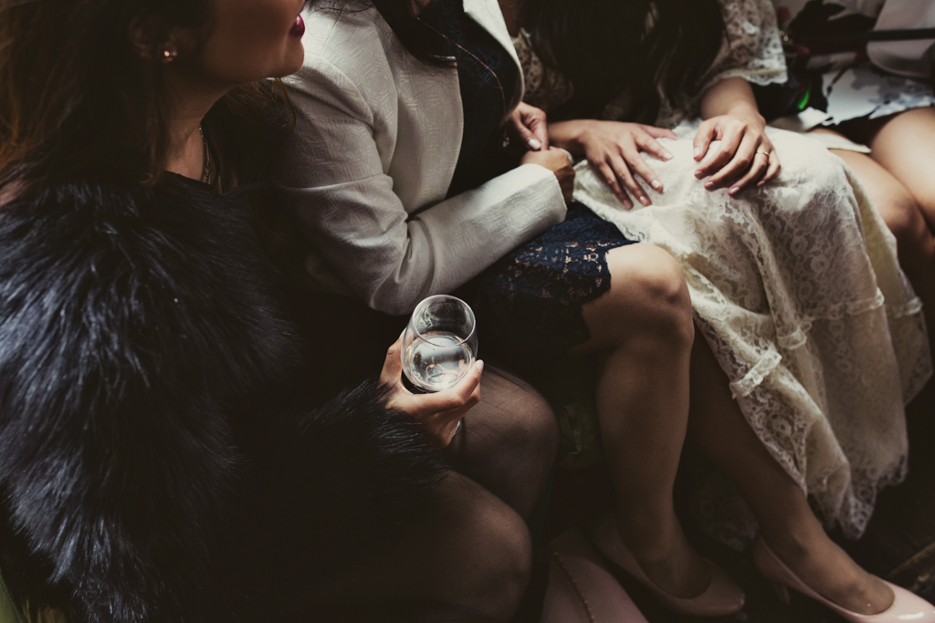 guests hand at a wedding in Hackney by Lisa Jane Photography