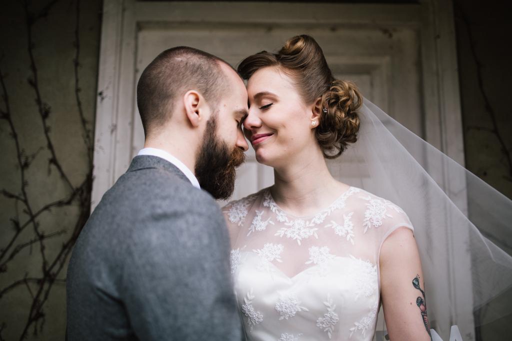 Bride and groom at Northbrook Park wedding