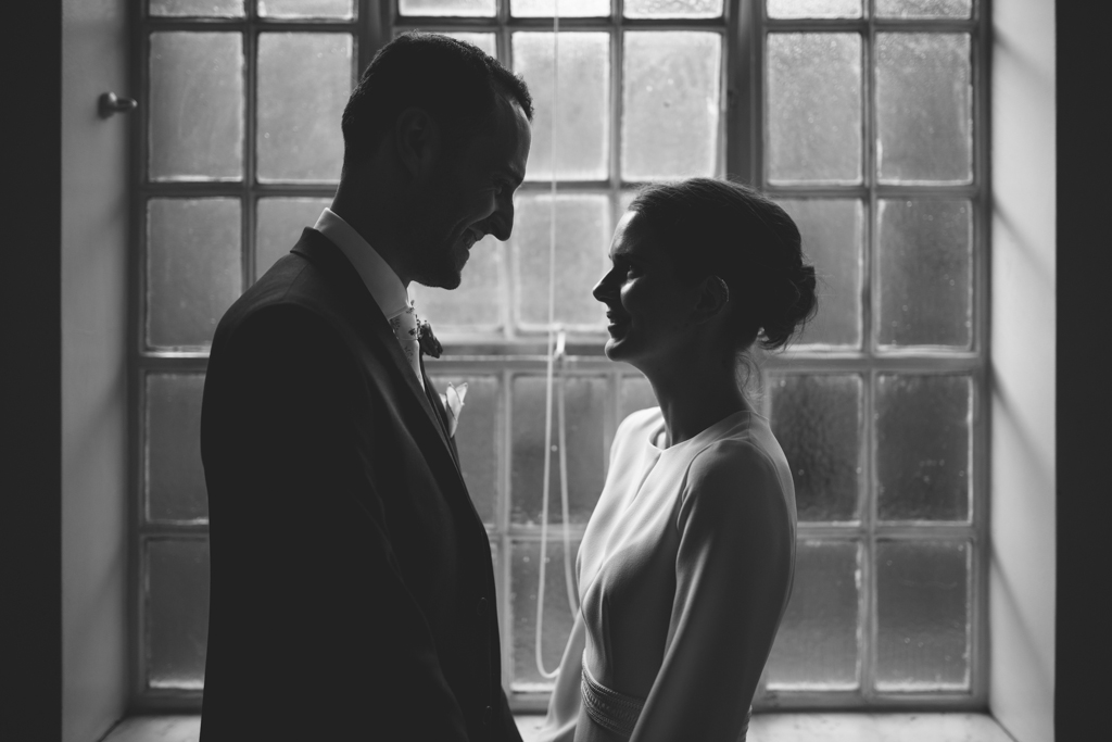 Bride and groom portraits at an Islington Town Hall Wedding