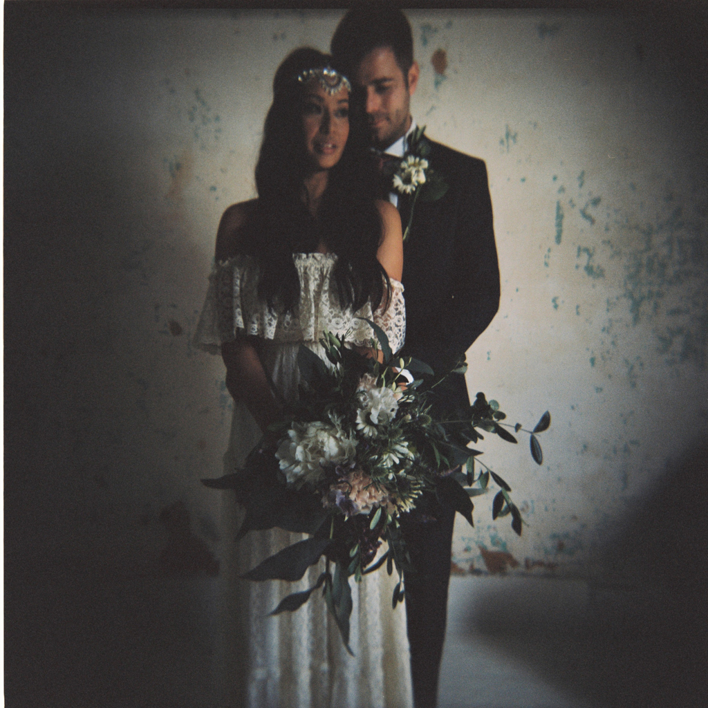 creative holga wedding portraits at The Roost in London