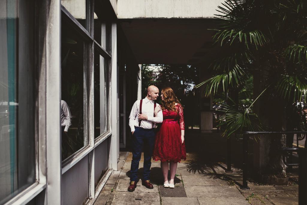 Alternative wedding portrait photography London
