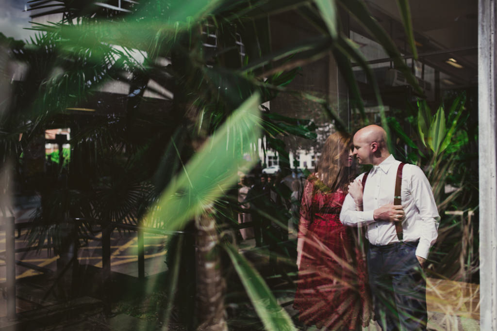 Alternative holga wedding portrait photography London