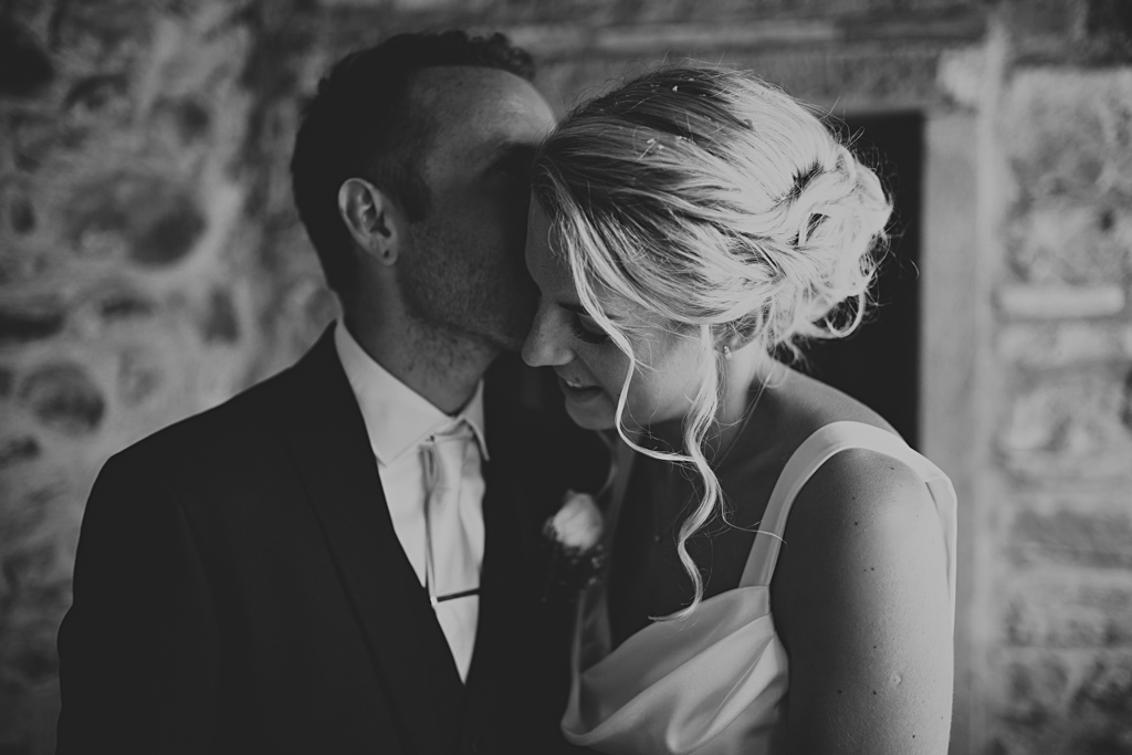 black and white couples portrait at a destination wedding in Italy