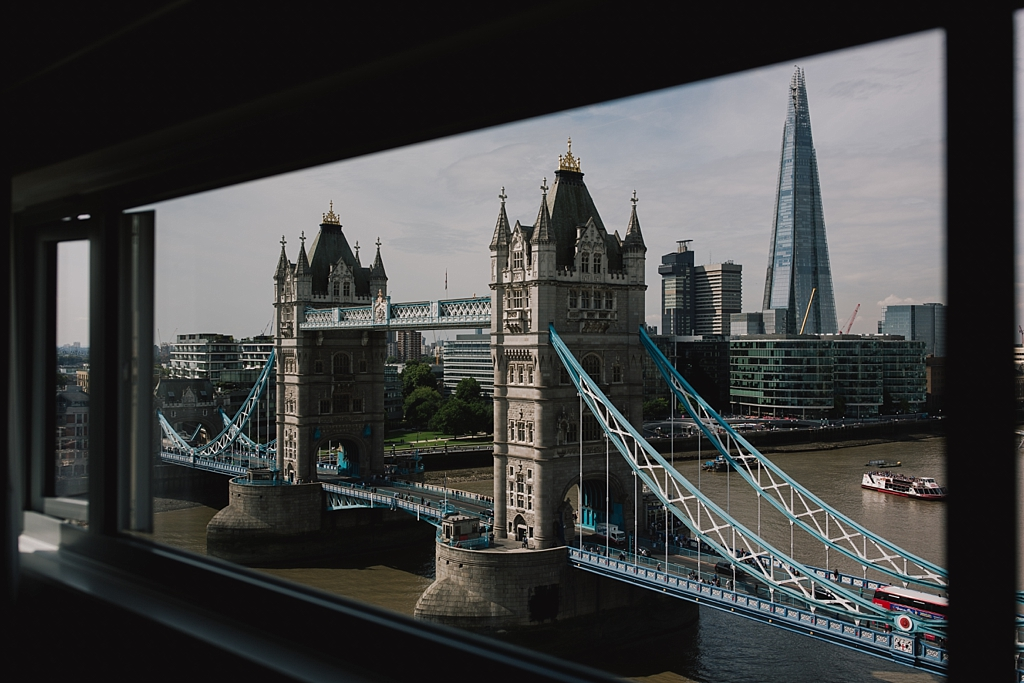 View of Tower Bridge from hotel room