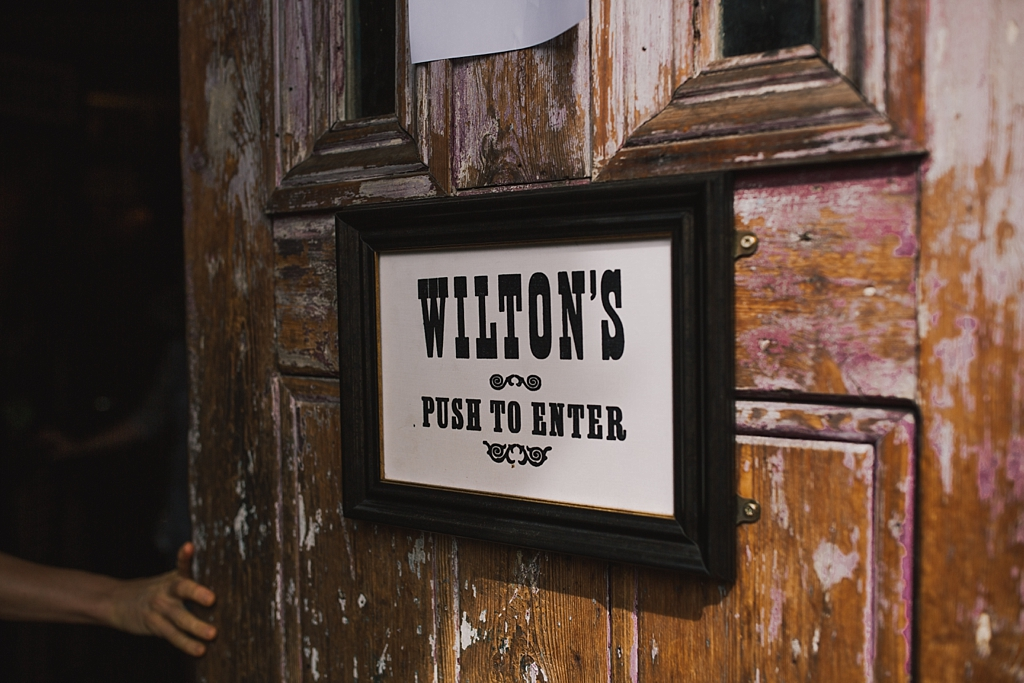 Entrance to Wiltons Music Hall   Wiltons Music Hall Wedding Photographer   Lisa Jane Photography