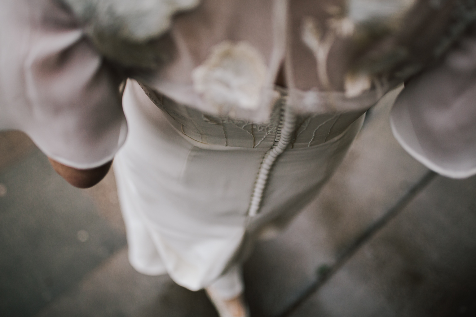 beautiful detail on a personalised Story of my Dress wedding gown