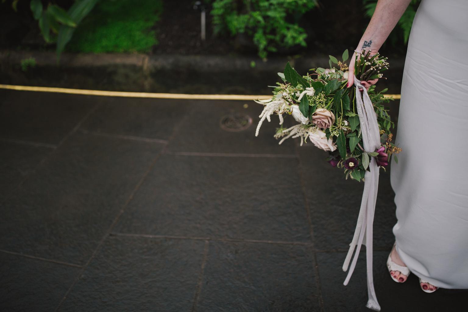 Beautiful bouquet at a Glasgow Botanic Gardens Wedding by Lisa jane Photography