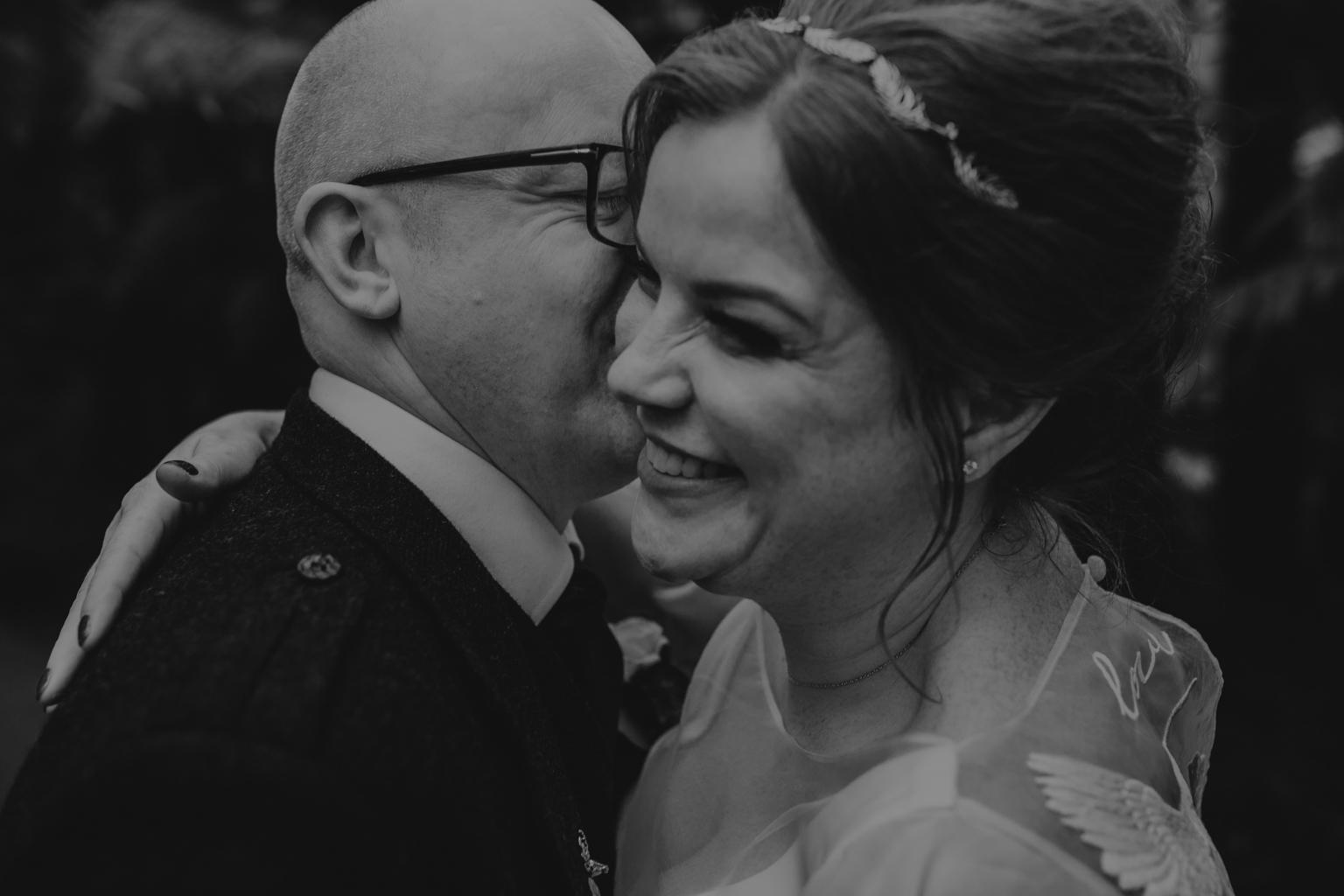 Intimate wedding portrait by Lisa Jane Photography