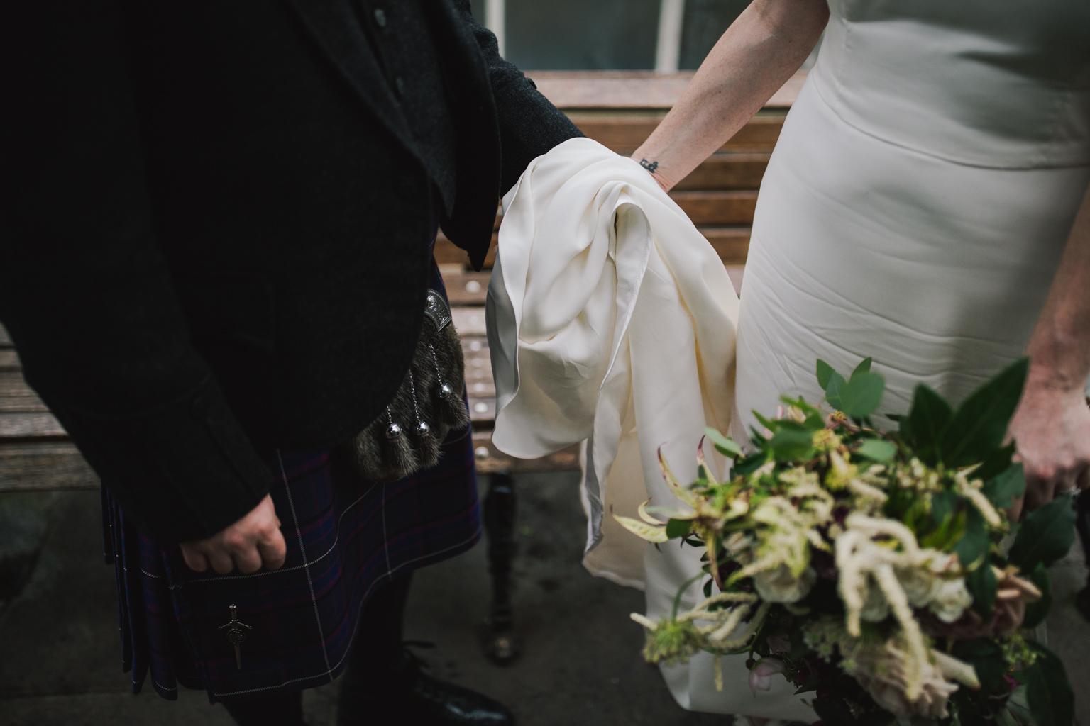 Glasgow Botanic Gardens Wedding with a Story of my Dress wedding gown