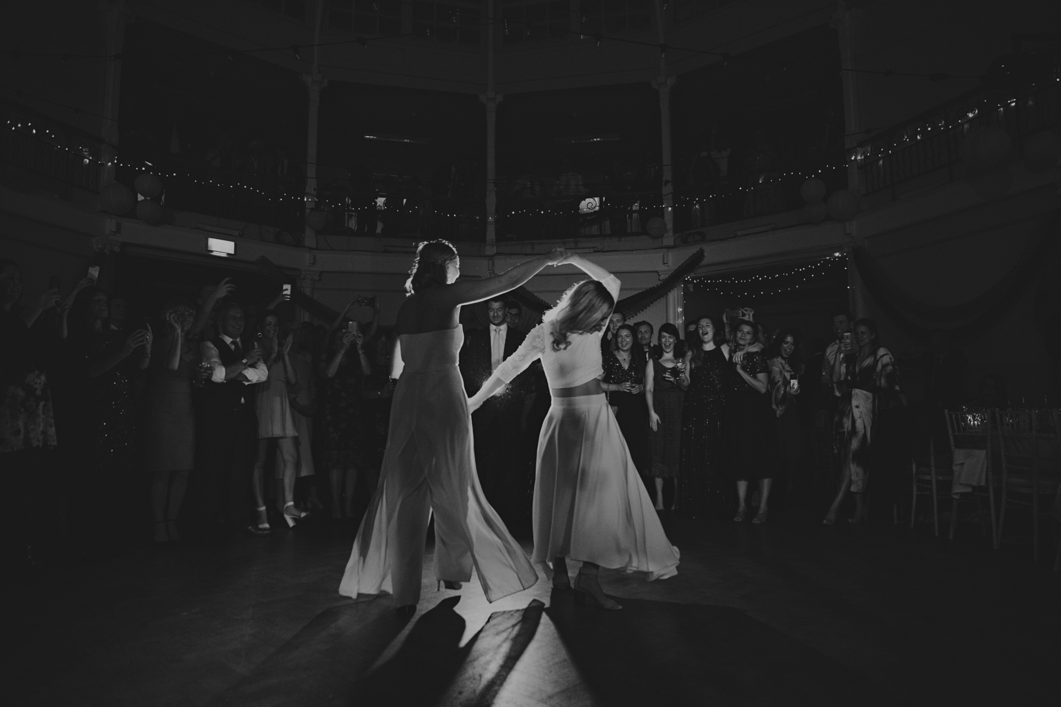 First dance at Tab Centre Shoreditch wedding by Lisa Jane Photography