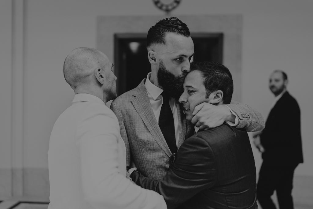 Hugs at Hackney Town Hall Wedding Ceremony