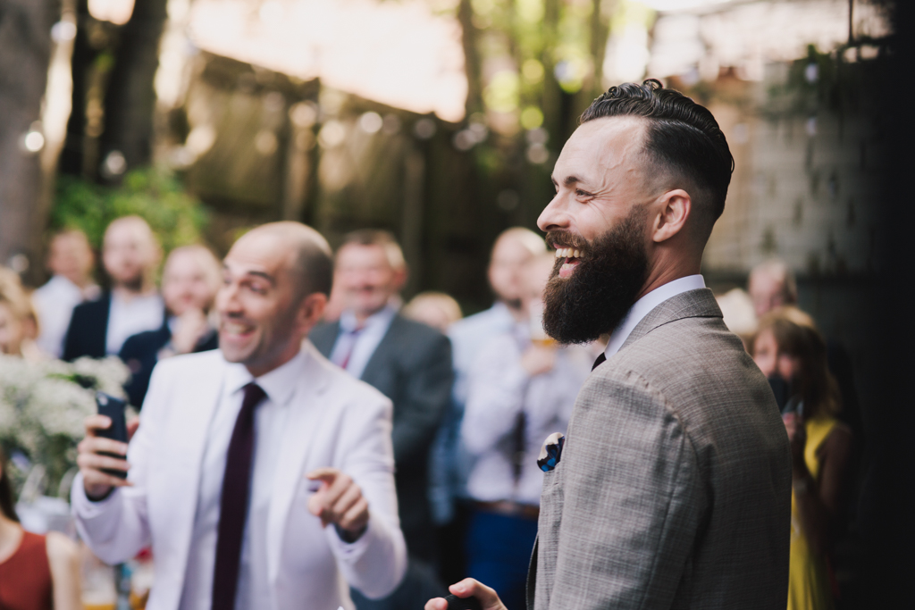 Speech at Hackney Town Hall Wedding by Lisa Jane Photography
