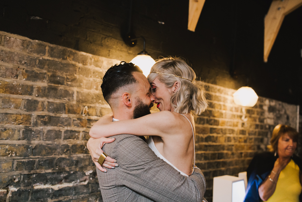 First Dance at Hackney Church Brew Wedding by Lisa Jane Photography