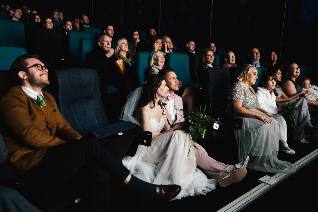 Cinema Wedding at Rich Mix by Lisa Jane Photography